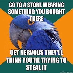 Paranoid Parrot. So true!