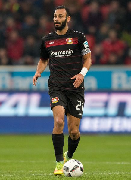 Oemer Toprak of Leverkusen in action during the Bundesliga match between Bayer 04 Leverkusen and SV Darmstadt 98 at BayArena on November 5, 2016 in Leverkusen, Germany.