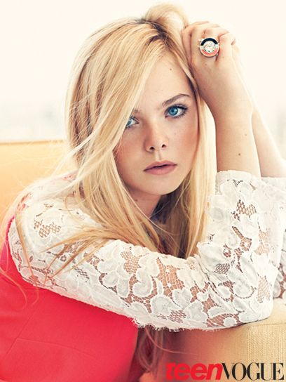 Obsessed with Elle Fanning in Christopher Kane, Teen Vogue February 2012