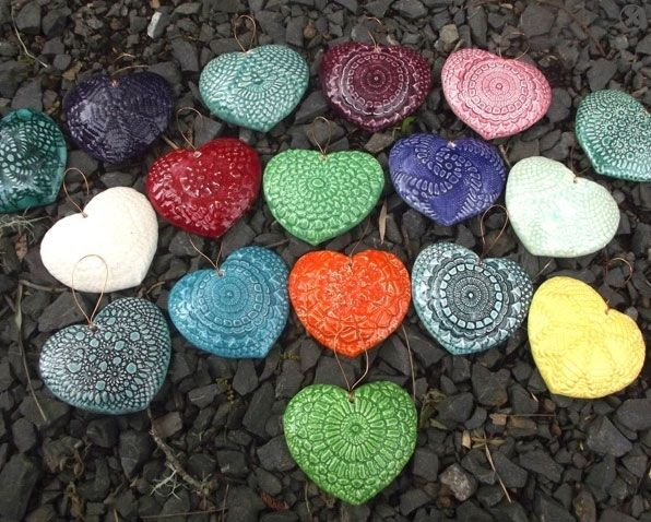 The little GALLERY of fine ARTS. NZ made pottery hearts