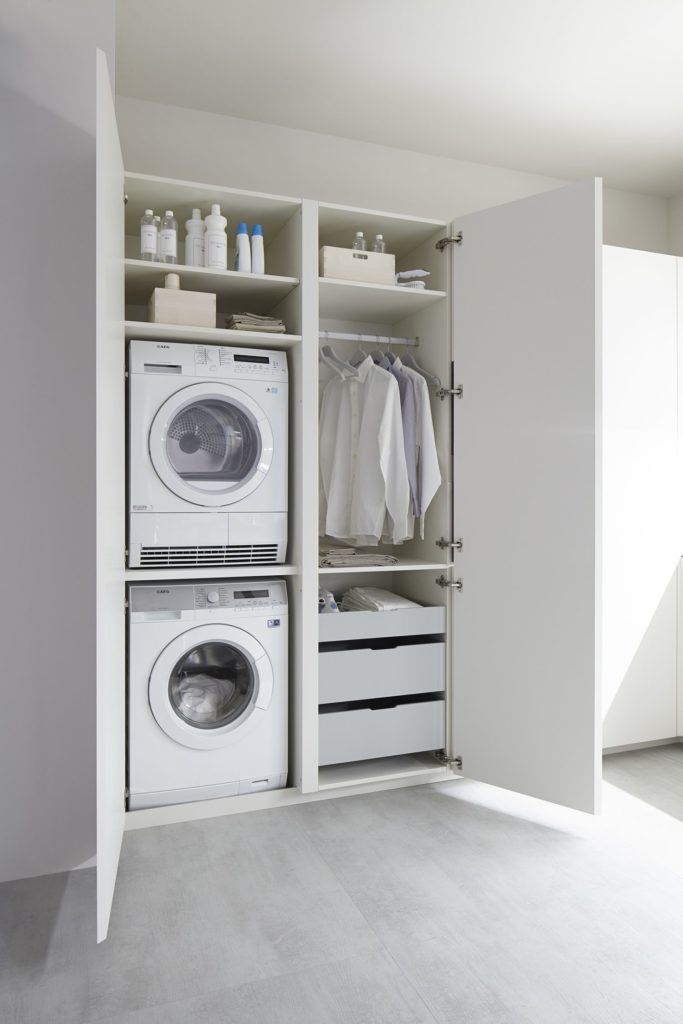 Designing the ultimate laundry, all the tips and tricks you need! Euro laundry - making the most of a deep cupboard for your laundry