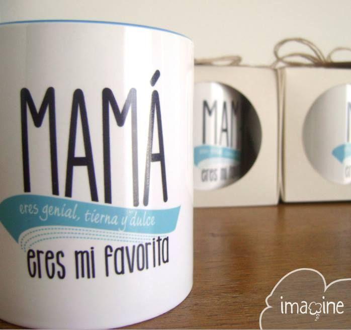 Y si el color favorito de #mama es el celeste, tenemos una #taza para la más tierna de la casa #imaginehechoamano