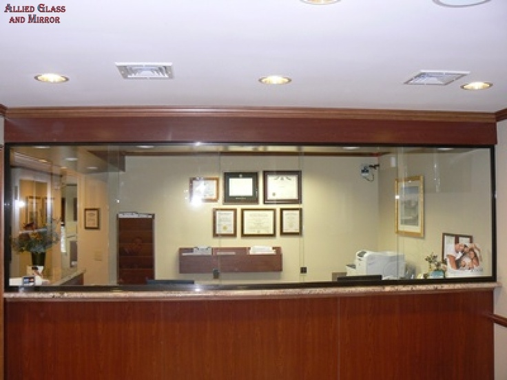 Decorating sliding glass reception window : Receptionist Sliding Windows With Stationary Panel | Reception ...