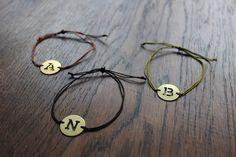 Armbänder - Armband Buchstabe Initialen - ein Designerstück von Bohani bei DaWanda