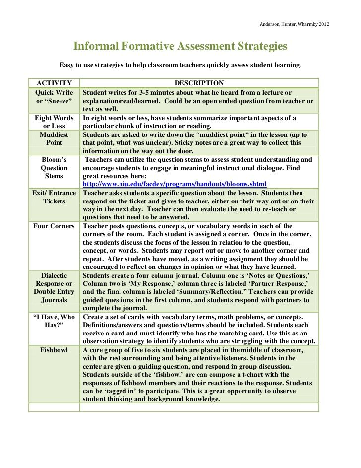 Best 25+ Formative assessment examples ideas on Pinterest - formative assessment strategies