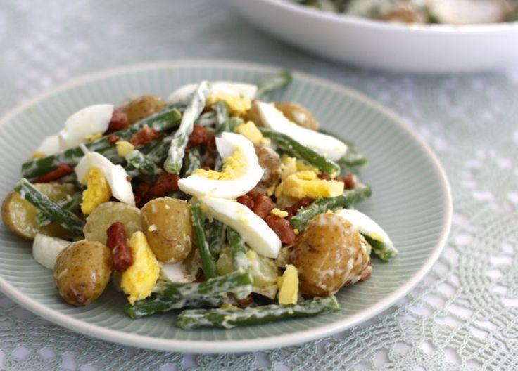 5 or less: Luxe aardappelsalade met haricots verts en eitjes