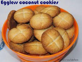 Prachi's veg kitchen: Eggless coconut cookies