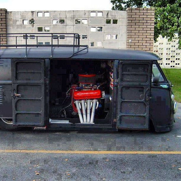 VW bus, slightly modified