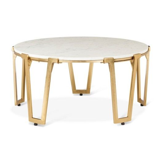 Brass And Marble Coffee Table   Nate Berkus