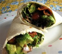 What's better than a BLT? A BLT with avocado! Try this delicious wrap (and to make it a bit healthier try a whole grain or spinach wrap with low-fat mayo instead).
