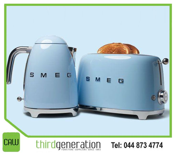 Add a dash of style and colour to your kitchen with our range of #Smeg appliances. Visit us in-store or contact us on 044 873 4774. #ThirdGenerationCAW