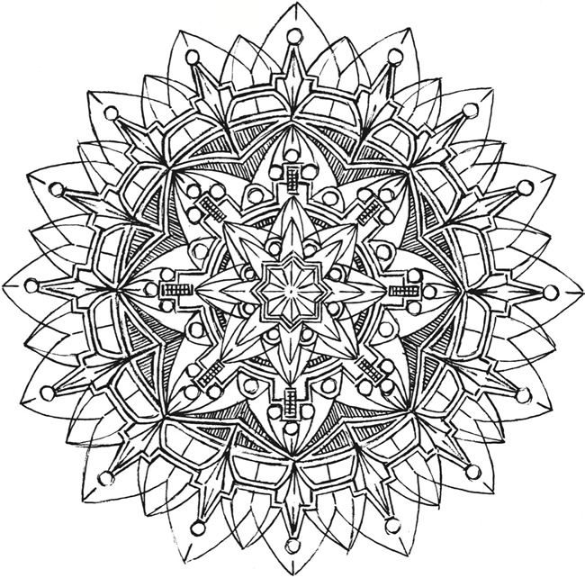 kaleidoscope designs free coloring pages - photo#26
