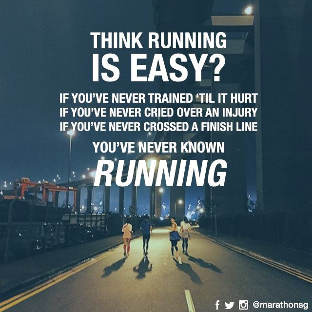 You think running is easy??