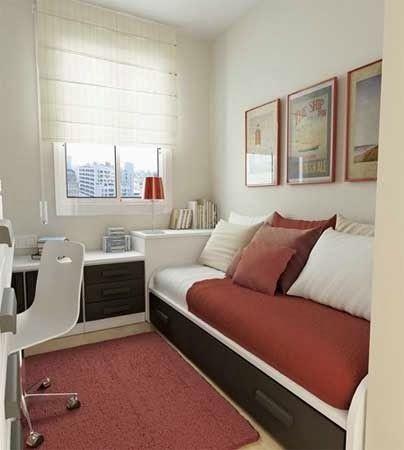 Escritório/quarto de hóspedes com cama auxiliar