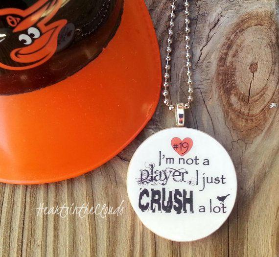 Baltimore Orioles Inspired Necklace Baltimore Baseball Jewelry Chris Davis Crush Davis
