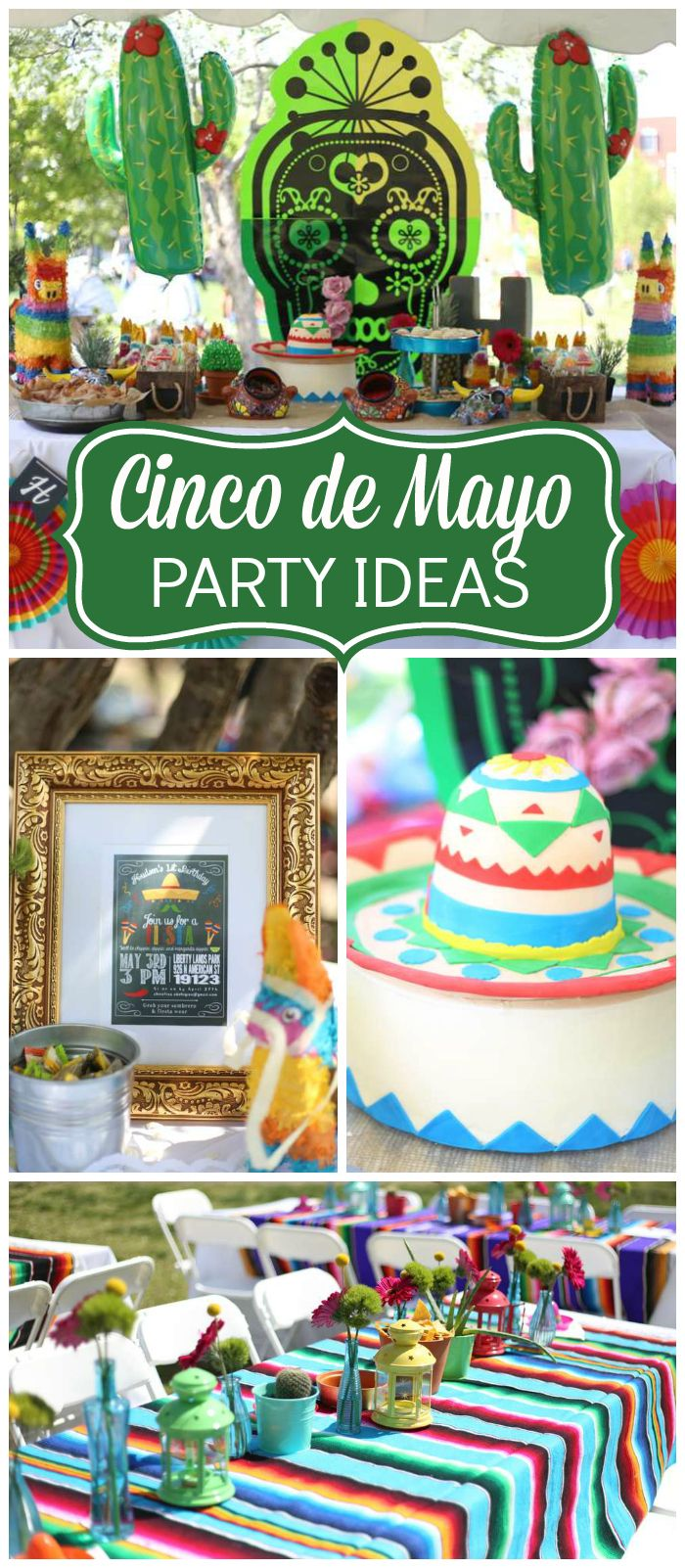 Check out this Cinco de Mayo party with a taco bar and pinata! See more party ideas at CatchMyParty.com!