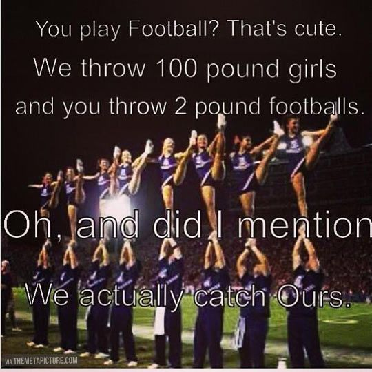 Funny Sports Quotes And Sayings Male Cheerleadi...