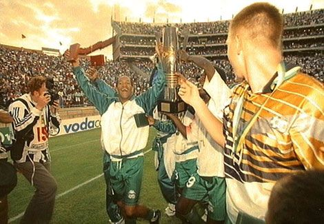 South Africa organised the 1996 Nations Cup with just 11 months' notice after Kenya pulled out of the hosting of the event – Bafana Bafana went on to win the title on home soil. Mark Williams (probably the only player to have represented both Wolverhampton Wanderers and Brazilian side Corinthians) came off the bench in the February final against Tunisia to score the two goals that gave us an exhilarating Afcon '96 victory.