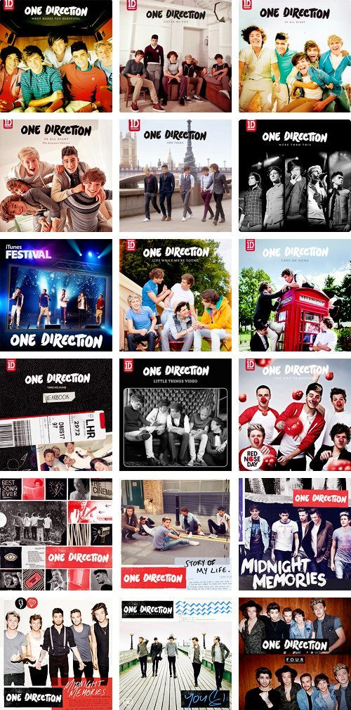 One Direction Song Lyrics by Albums