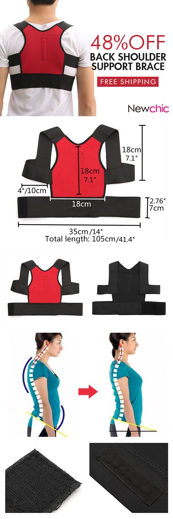 [Newchic Online Shopping] 48%OFF Posture Corrector Corset | Personal Care | Shapewear