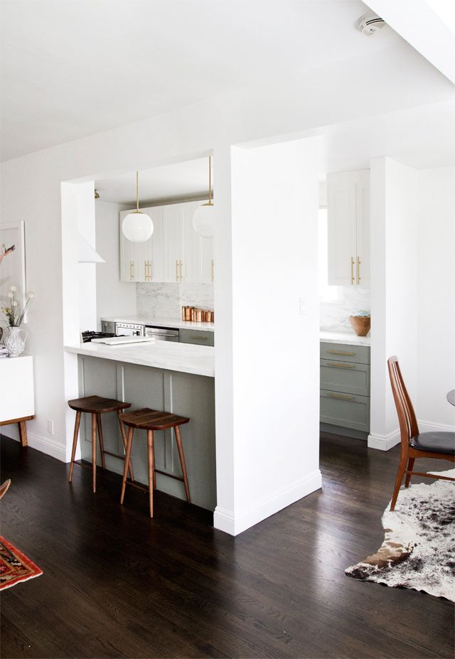 In case the wall has to stay | kitchen with bar