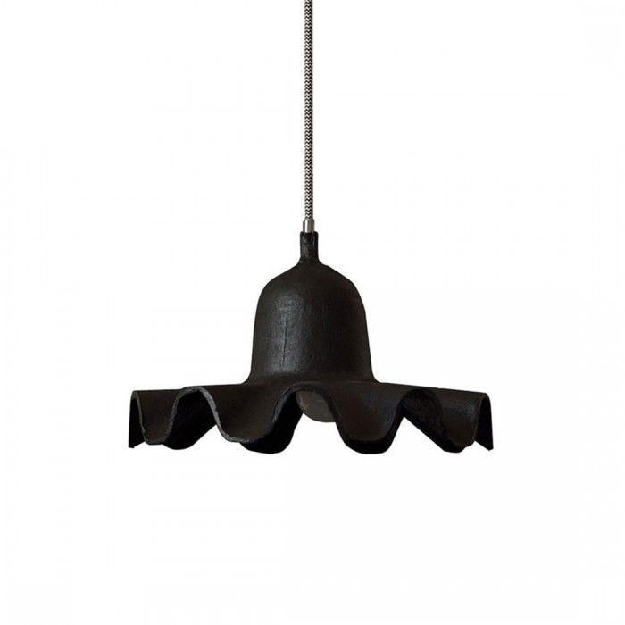 Lampada a sospensione in carta nera 26,5 cm by Seletti