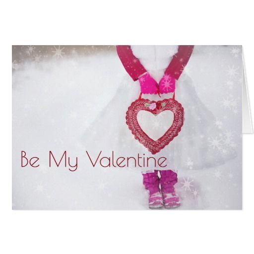 Winter Heart Be My Valentine Card
