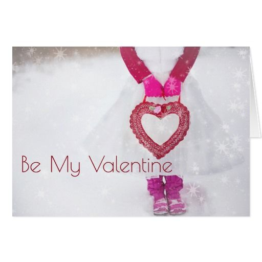 Winter Heart Be My Valentine Card