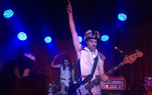 Pinot, space suits and badass bass, The Stiffys tear Sydney a new one at the Brighton Up Bar