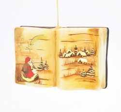 Księga świąteczna - brązowa odsłona - Polskie bombki ręcznie malowane - sklep z ozdobami choinkowymi Komozja Family