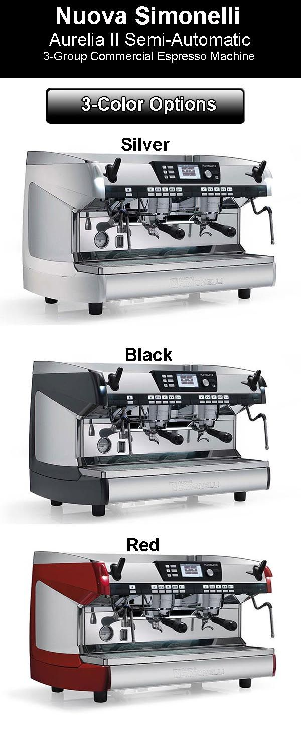 Nuova Simonelli Aurelia II - 3 Color Options  Nuova Simonelli Aurelia Semi-Auto Espresso Machine: