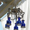 Outdoor Chandelier Lighting made with Trash and Krylon Paint - Step by Step Tutorial