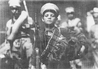 """Blessed Jose Luis Sanchez del Rio. [His executioners] stopped him and said,'If you shout 'Death to Christ t/King' we will spare your life.' José would only shout, """"I will never give in.Viva Cristo Rey!"""" When they reached t/place of execution, they stabbed him numerous times with bayonets. He only shouted louder, """"Viva Cristo Rey!"""" T/commander was so furious that he pulled out his pistol and shot him in the head...[Jose] drew in t/ground a cross with his blood and kissed it as his time…"""