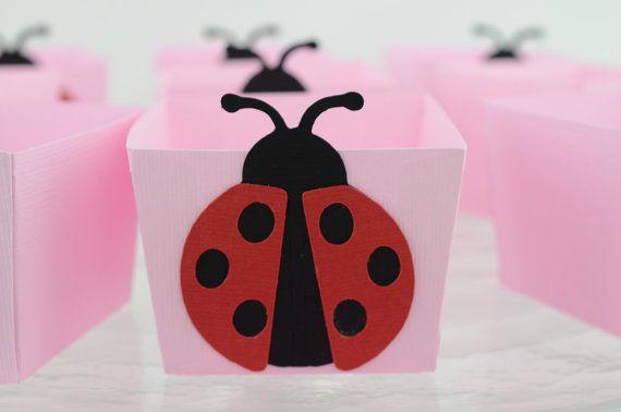 Lady Bug Candy Cups Lady Bug Baby shower 12 by lisamarDesigns