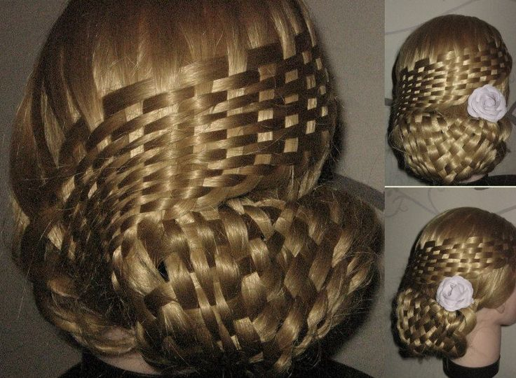 How To Do A Basket Weave Updo : Basket weaving and updo peinados