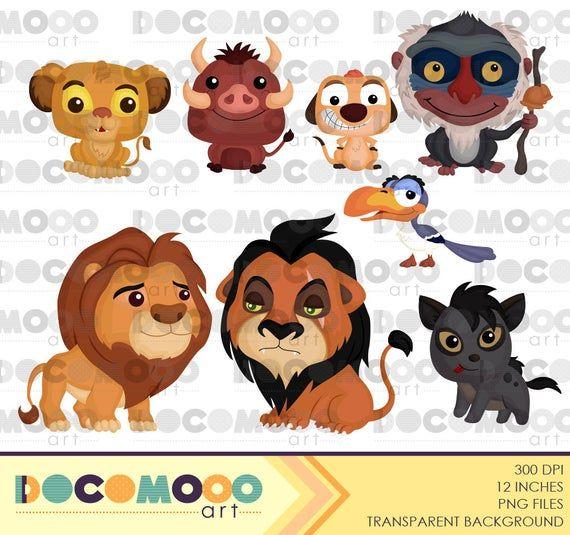 King Of Animal Clipart Cute Lion Clip Art Cute Animal Etsy Cartoon Clip Art Animal Clipart Clip Art