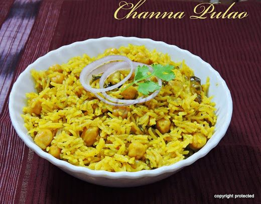 #Channa #Pulao - A flavorful pulao made with white chickpeas - a healthy one-pot meal. #Pulao #chickpeas #healthyrecipes