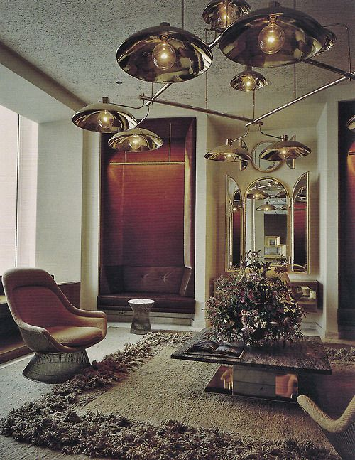 Built In Sofa Mid Century Modern Interior Design Vintage Architecture Decor Furniture