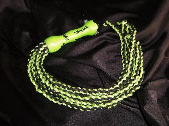 Frankenstein inspired braided paracord flogger BDSM by GeekKink, $45.00: Geekkink