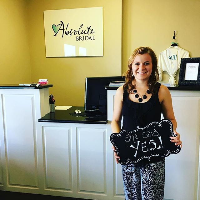 SHE SAID YES!! Congratulations to Malorie Tiemann... We at Absolute Bridal are so happy for you and wish you all the love in your upcoming marriage!! * * * #shesaidyes #absolutebridalmidland #midlandwedding #dressesofthepermianbasin #happybride #happybridehappylife #bridetobe #tyingtheknot #cheerstothedress #absolutebride #inlovewithlove #happybridehappylifeabsolutebridalmidland #absolutelythedress