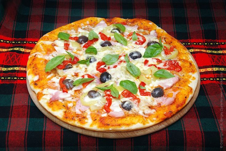 Пицца с болгарским перцем и балыком - вкусная пицца с мясом