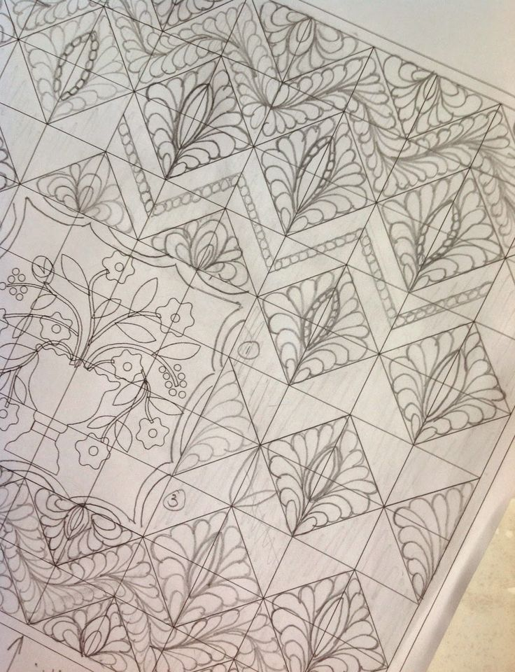 Karen's Quilts, Crows and Cardinals: FMQ - Chevron with a Twist - Part I - QP Curved Template Crosshatch