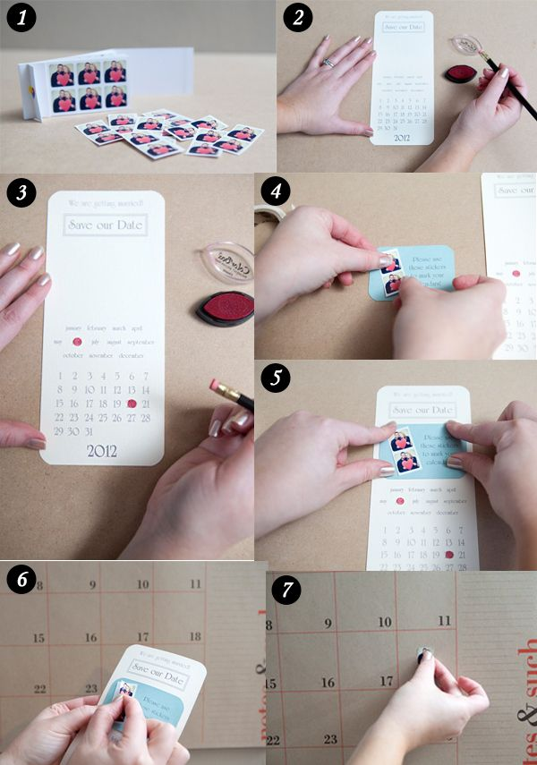 diy wedding save the date ideas using instagram stickers