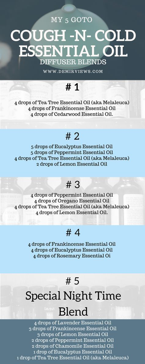 MY 5 GO-TO COUGH AND COLD ESSENTIAL OILS DIFFUSER BLENDS