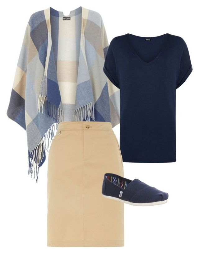"""""""Blues Clues"""" by a-b-underwood on Polyvore featuring Dorothy Perkins, WearAll, Lauren Ralph Lauren, TOMS, women's clothing, women, female, woman, misses and juniors"""