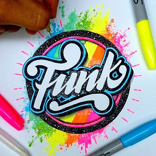 Le lettering très coloré de El Juantastico
