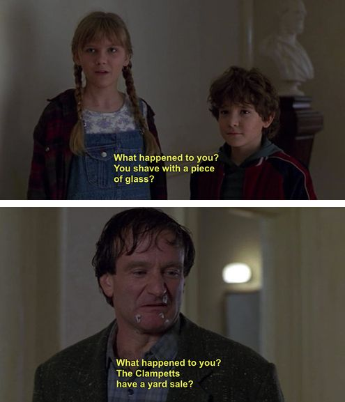 And this is the most epic burn of all time. Jumanji
