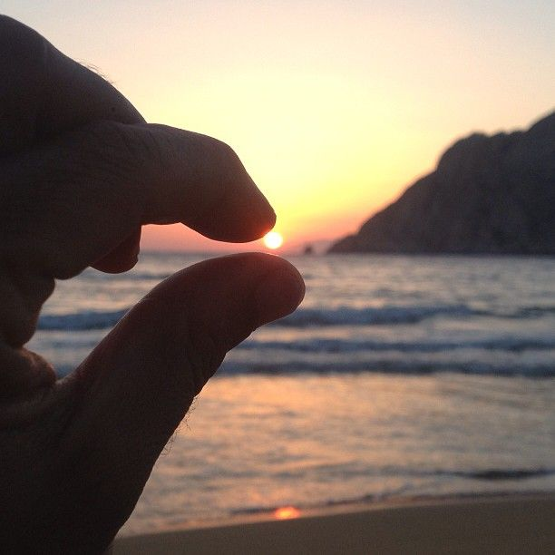 "Psili Ammos beach..#Patmos. ""Touching the sun"""