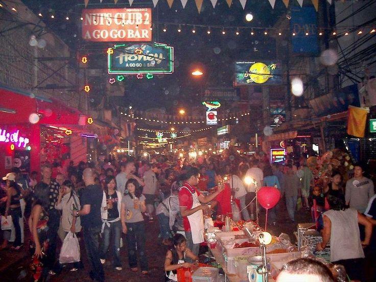 Partying in Walking Street Pattaya Thailand at Night (Indian Ocean Island)