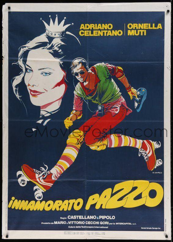 eMoviePoster.com Image For: 7g519 MADLY IN LOVE Italian 1p 1981 Innamorato Pazzo, Casaro art of Adriano Celentano & Ornella Muti